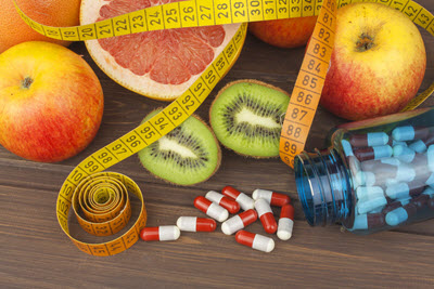 Nahrungsergänzungsmittel und Obst